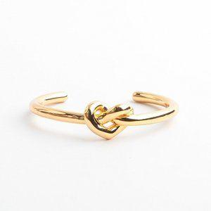 Kate Spade Metal Button Knot Open Bracelet